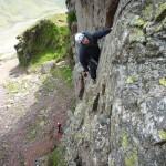 Great Gable -Tophet Wall - climber Rob Davies - photo Ron Kenyon (8)
